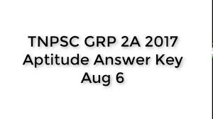 tnpsc group 2a 2017 maths answer key youtube