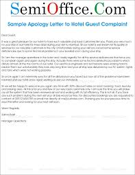Format For A Complaint Letter by Apology Letter To Guest Complaint In Hotel