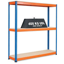 shelving heavy duty shelving 400kg per shelf 3 shelf levels