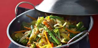 recette cuisine wok wok de légumes croquants aux cacahuètes facile et pas cher