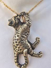 cat jewelry necklace images Bengal cat pendant 14kt fazio 39 s cat jewelry JPG