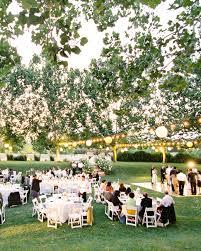small backyard wedding reception ideas outdoor wedding lighting ideas from real celebrations martha