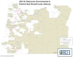 Map Of Redmond Oregon by Health Care Shortage Oregon Office Of Rural Health Ohsu