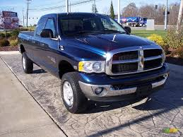 2005 patriot blue pearl dodge ram 2500 big horn quad cab 4x4