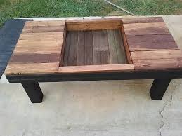 Pallet Coffee Tables Pallet Coffee Table With Planter Box Pallet Furniture