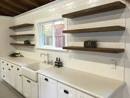 Kitchen Tiles Wall Designs by Decorating Winsome Brown Wood Floating Shelf Bracket On White