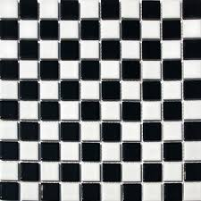 Black And White Checkered Tile Bathroom Black And White Bathroom Tile Amazon Com