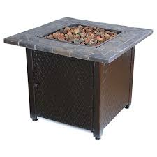 Target Firepit Threshold 30 Square Lp Gas Pit Table With Resin Mantel