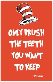 dr seuss wall art teeth print home decor quote poster 11x17