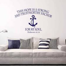 Bible Verses For The Home Decor Anchor Home Decor Wood Anchor Rudder Mute Wall Watches Home Decor