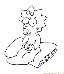 simpsons4 coloring free maggie simpson coloring pages