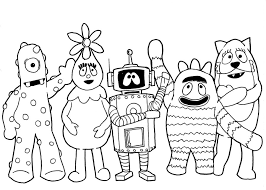 hellboy coloring pages yo gabba gabba coloring pages for group coloring coloringpagehub