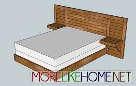 Ideas For King Size Headboards by Fresh King Size Headboard With Built In Nightstands 57 For Diy