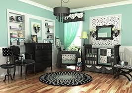 amazon com dk leigh crib nursery bedding set turquoise black