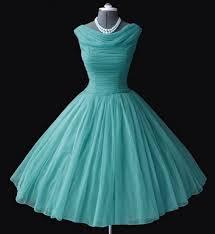 vintage turquoise chiffon 50s dress bridesmaid fashion darling