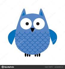 cartoon blue owl u2014 stock vector scrapster 132543750