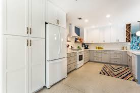 modern kitchen white appliances crystal and aron u2013 cordova park kitchen remodel cabinet depot
