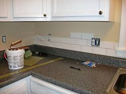 Where To Buy Kitchen Backsplash Kitchen Subway Tiles With Mosaic Accents Backsplash Tumbled Tile