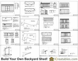 Storage Building Floor Plans 5x20 Lean To Shed Plans 5x20 Shed Plans