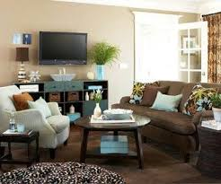 Best Brownturquoise Images On Pinterest Living Room Ideas - Small family room