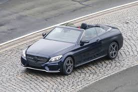 2017 mercedes benz c class cabriolet spy shots with top down