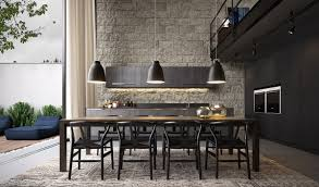 the caravaggio pendant l43 stone walls room and kitchen dining room inspiration