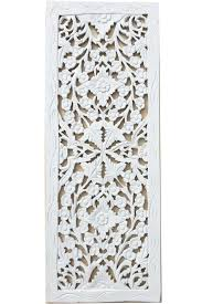 Thai Home Decor by Floral Wood Carved Wall Panel Wall Hanging Asian Home Decor