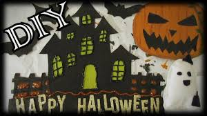 diy halloween decorations haunted house mini bats evil pumpkin