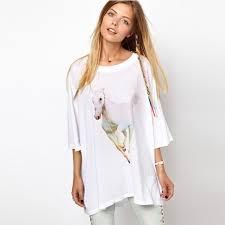 new 2016 fashion summer t shirt women clothing wildfox horse