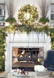 brick fireplace christmas decorating ideas holiday mantel