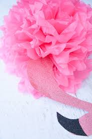 Paper Pineapple Decorations Luau Tissue Paper Pineapple Pouf And Diy Pink Flamingo Decor