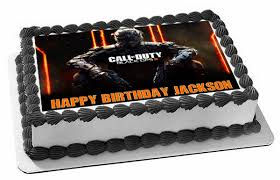 call of duty birthday cake call of duty ops 3 edible birthday cake topper