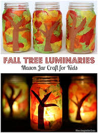 jar fall luminaries craft fall trees preschool activities
