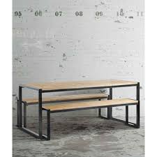 Industrial Style Bench Chenier Dining Table Reclaimed Wood Industrial Style My