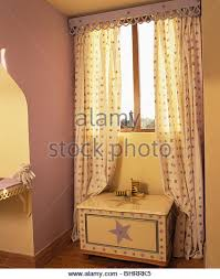 Orange Patterned Curtains Patterned Curtains On Window In Stock Photos U0026 Patterned Curtains