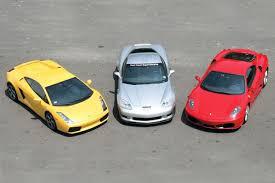 f430 vs lamborghini gallardo supercar comparison corvette z06 vs f430 vs