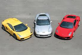 corvette vs lamborghini supercar comparison corvette z06 vs f430 vs