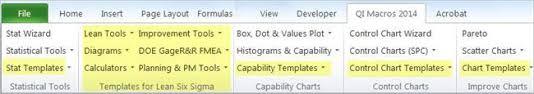 Six Sigma Excel Templates Lean Six Sigma Tools For Excel Six Sigma Templates
