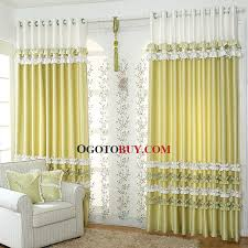 Green Kids Curtains Korean Style Fabulous Bud Green Polyester Kids Curtain With Lace