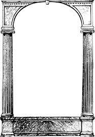 cool frame clipart cool columns frame