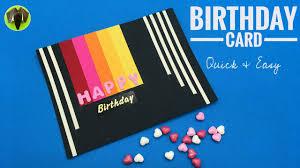 Halloween Birthday Ecard by Birthday Card Quick U0026 Easy Diy Tutorial By Paper Folds 702