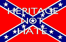 Confederate Flag Pin Heritage Not