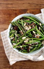 sautéed green beans with mushrooms almonds the wheatless kitchen