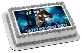 dr who cake topper dr who tardis 2 edible birthday cake or cupcake topper edible