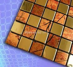 Stainless Steel Tiles For Kitchen Backsplash Online Get Cheap Stainless Steel Tile Backsplash Aliexpress Com