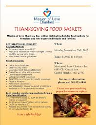 thanksgiving food basket distribution mission of charities inc