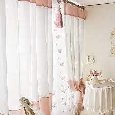 cute white sheer poly and cotton blend bedroom curtains buy pink