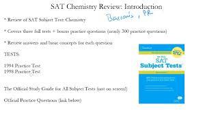 sat chemistry review reason prep