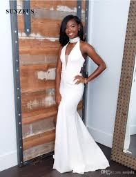 white graduation gowns bling bling high neck formal prom dresses 2017 white graduation