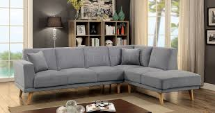 plush sectional sofas hagen sectional sofa cm6799gy in gray flannelette fabric